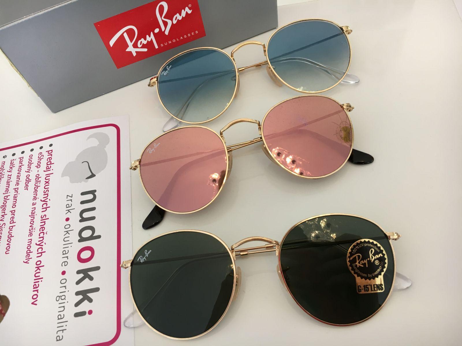 Okrúhle slnečné okuliare Ray-Ban ROUND METAL - Nudokki.sk 1320a9ce8d3