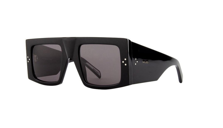 Masívne čierne slnečné okuliare