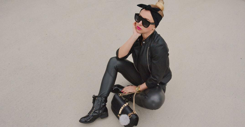 1ee0c0e31 Každá módna diva by mala mať čierny outfit…čierne nohavice, lodičky,  kabelku a slnečné okuliare nadrozmernej veľkosti značky CELINE.