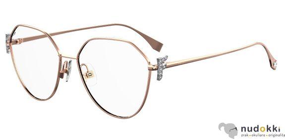 dioptrické okuliare Fendi FF 0389/G DDB