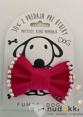 motýliky pre psa - pink