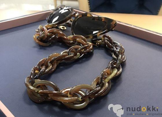 retiazka na okuliare Chain Brown