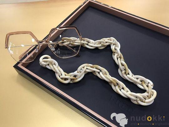 retiazka na okuliare Chain White