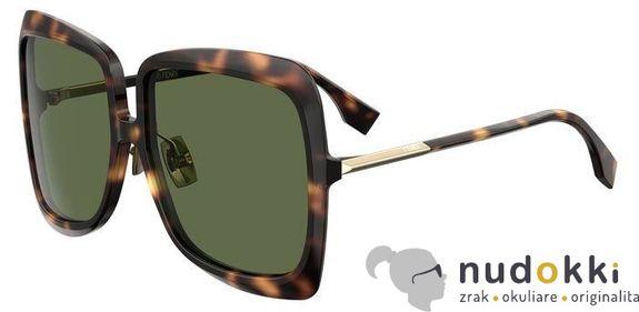 slnečné okuliare Fendi FF 0429/S 086/QT