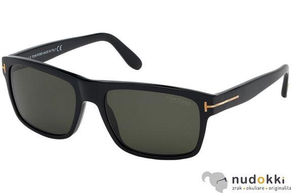 slnečné okuliare Tom Ford AUGUST FT0678 01D POLARIZED